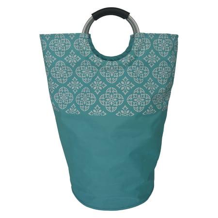 Soft Handle Medallion Teal Laundry Bag