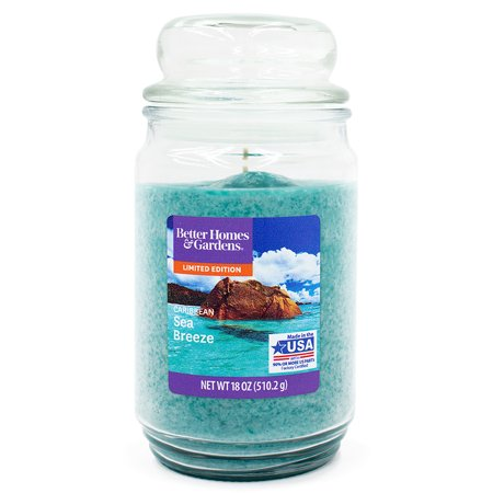 Better Homes & Gardens Jar Candle, Caribbean Sea Breeze, 18 oz](Garden In A Jar)