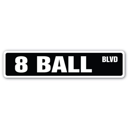 "8 BALL Street Sign billiards pool cue pooltable darts | Indoor/Outdoor |  24"" Wide"