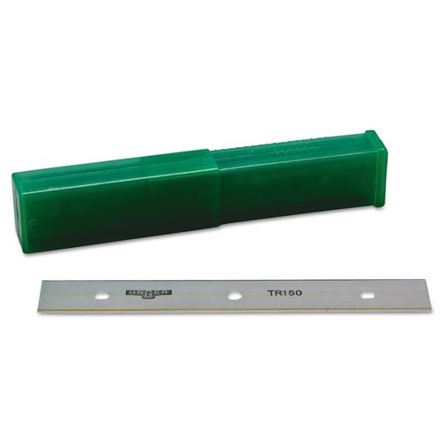 """Unger ErgoTec Glass Scraper Replacement Blades, 6"""" Double-Edge, 25/Pack UNG TR15"""