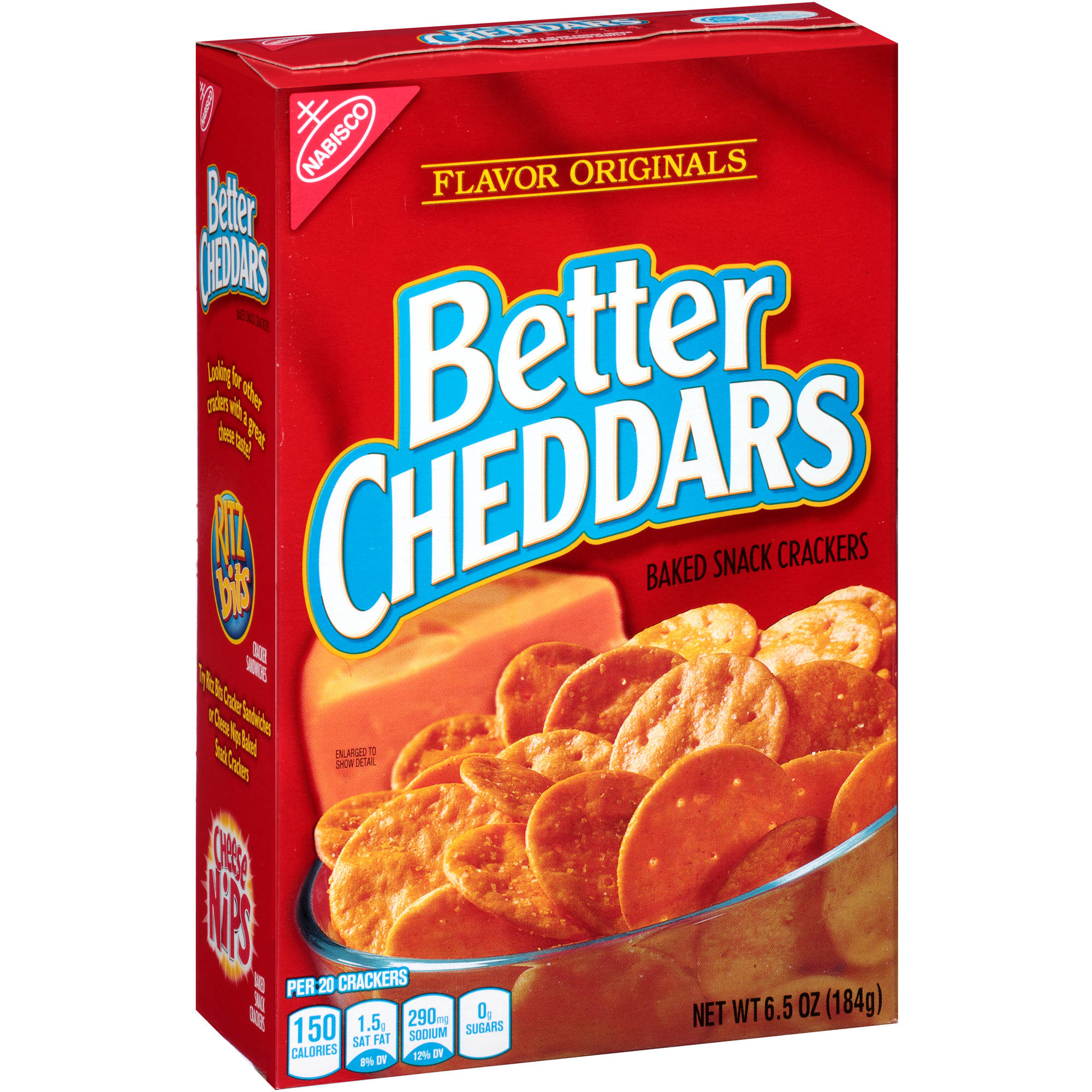 Nabisco Flavor Originals Better Cheddars Baked Snack Crackers, 6.5