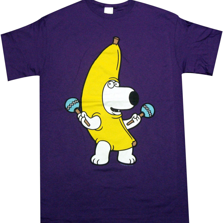 Family Guy Brian Banana Costume Men's T-Shirt, X-Large