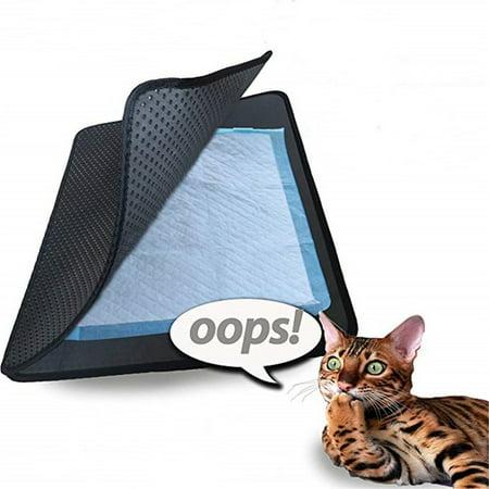 Pet Cat Litter Mat EVA Double-Layer Cat Litter Trapper Mats Non-slip Pet Mat - image 3 of 9
