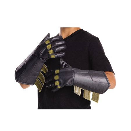 Batman Vs Superman: Dawn of Justice Child Batman Gauntlets Halloween Costume Accessory (Costume Gauntlets)