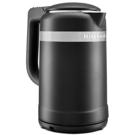 KitchenAid KEK1565BM 1.5 Liter Electric Kettle with Dual Wall Insulation, Black