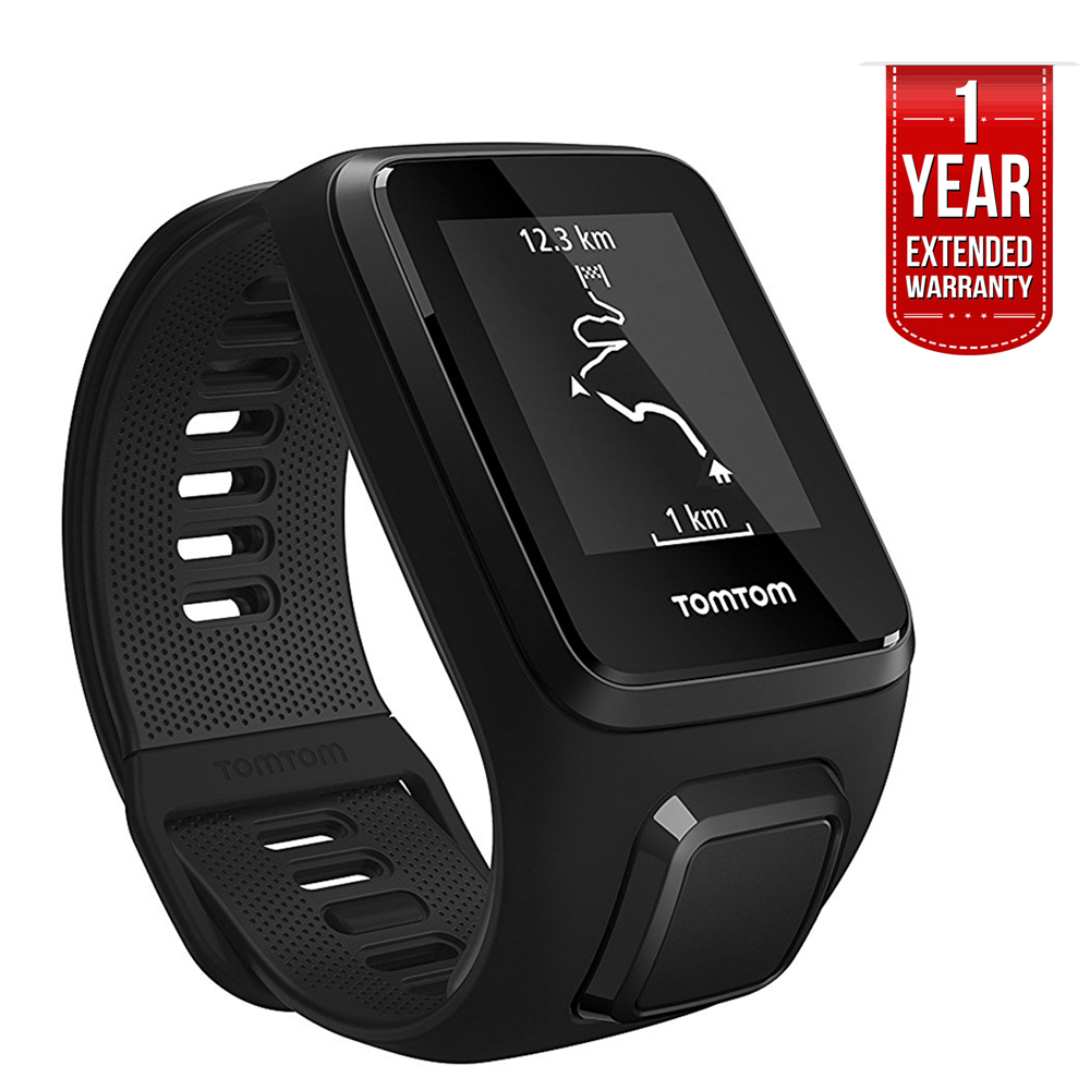 TomTom Spark 3, GPS Fitness Watch and Activity Tracker (1RL0.002.01) Black, Small + 1 YEAR EXTENDED WARRANTY by TomTom