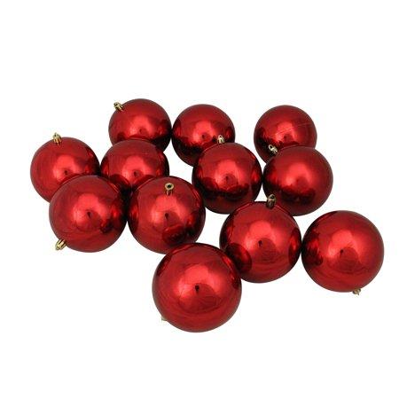 12ct Red Hot Shatterproof Shiny Christmas Ball Ornaments 4