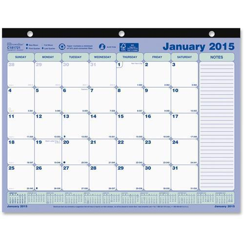 "Rediform C181721 Desk Pad or Wall Calendar Monthly 11"" x 8.50"" 1 Year January 2015 till December... by Dominion Blueline, Inc"