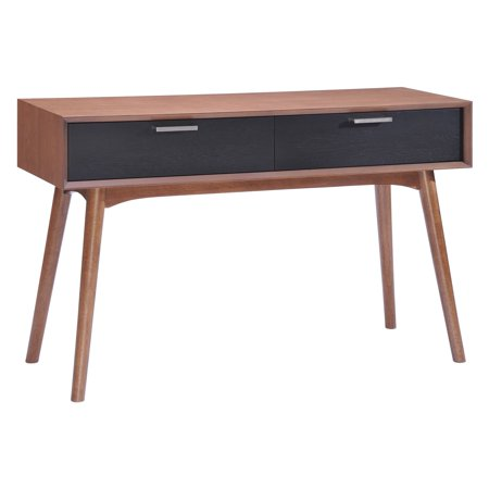 Liberty City Console Table, Walnut and Black - City Table