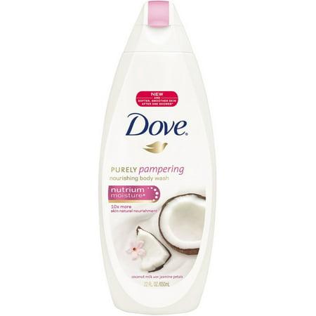 Chocolate Milk Body Wash - Dove Purely Pampering Body Wash, Coconut Milk & Jasmine Petals 22 oz (Pack of 4)
