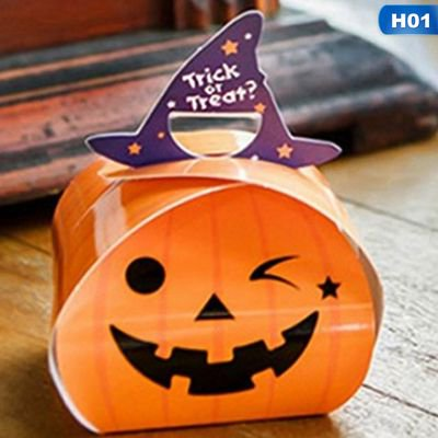 Easy Halloween Cakes Biscuits (Fancyleo 10 Pcs Candy Box Halloween Kindergarten DIY Biscuit Cake West Point Box)