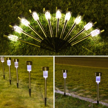 Ktaxon 10pcs Waterproof Solar Led Torch Light Outdoor Landscape Lawn Garden Lights Flickering Path Lamp