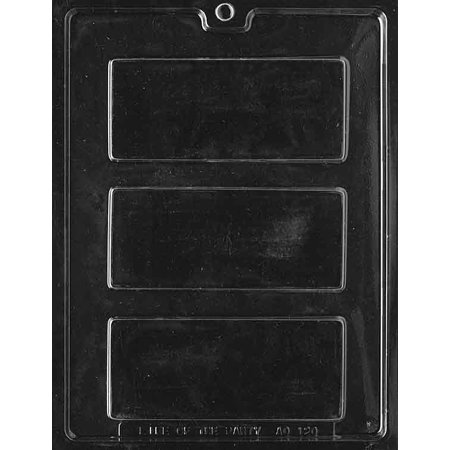 Solid Candy Bar Chocolate Mold - AO120 - Includes Melting & Chocolate Molding Instructions