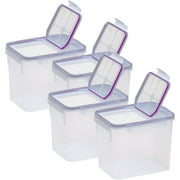Snapware Airtight Plastic 17-Cup Fliptop Food Storage Container, 4-Pack