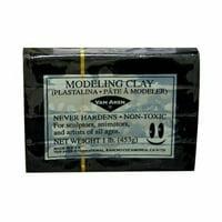 VAN AKEN INTERNATIONAL 10111 PLASTALINA MODELING CLAY BLACK 1LB