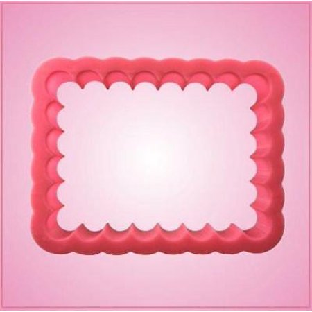 Scalloped Rectangle Cookie Cutter Small 3.5