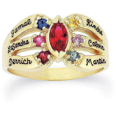 Keepsake Personalized Everlasting Mother's Birthstone Ring