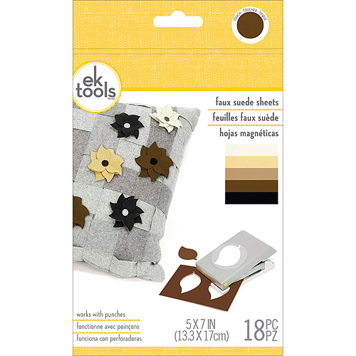 "Faux Suede Sheets 18pk, Neutrals, 5"" x 7"""