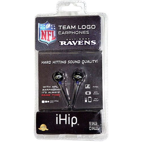 iHip NFL Mini Earbuds, Baltimore Ravens