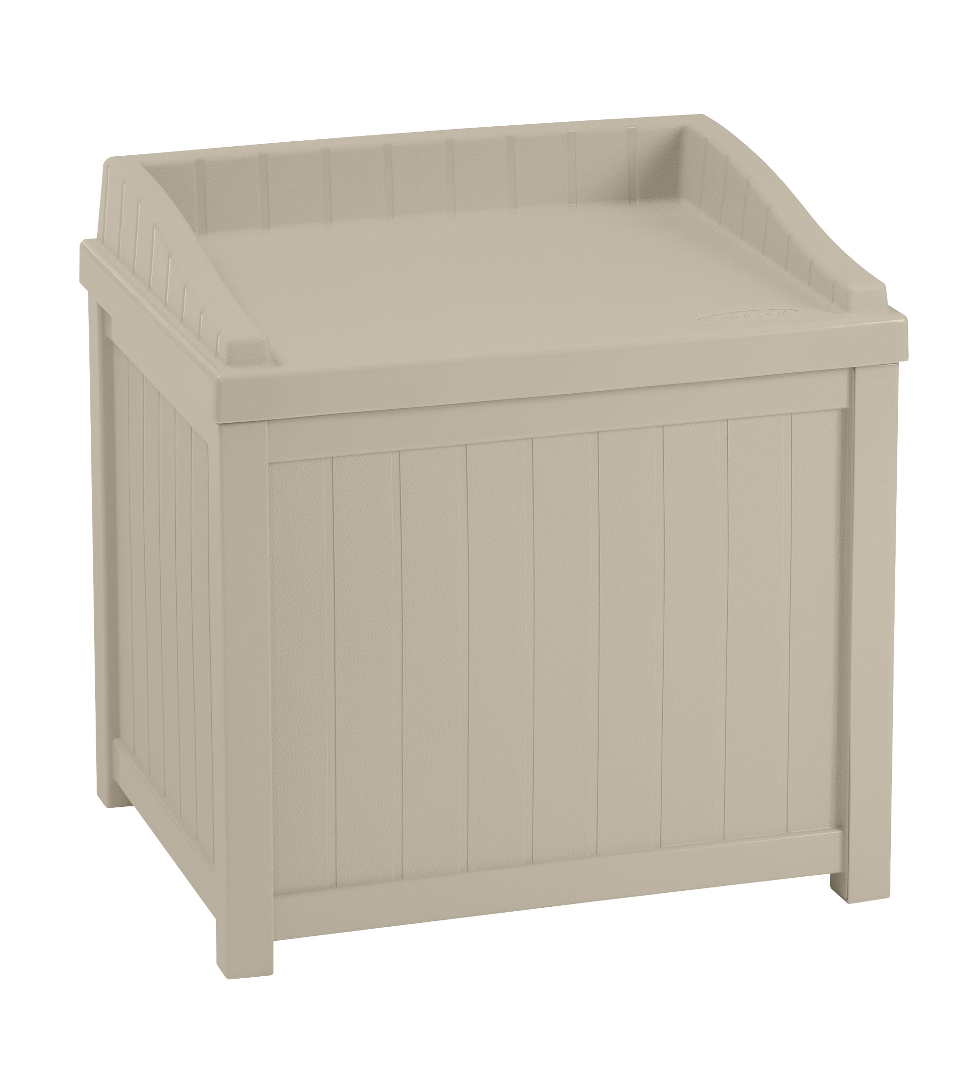 Suncast 22 Gallon Deck Box With Seat Light Taupe Ss1000