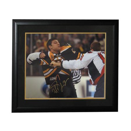 Autographed Milan Lucic Fight 16x20 Boston Bruins