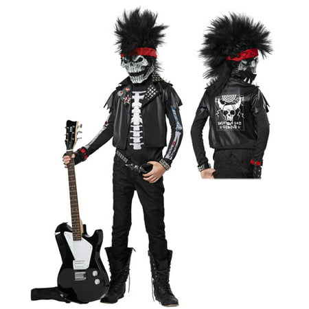 Dead Man Rockin' Boys Rock Star Halloween Costume - Halloween Makeup Ideas For Dead School Girl