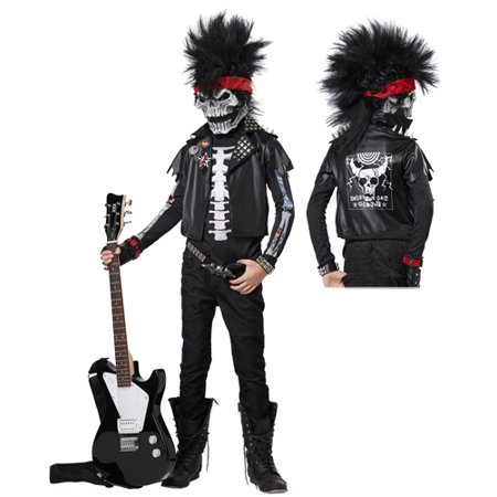 Dead Man Rockin' Boys Rock Star Halloween Costume (Famous Rock Star Halloween Costumes)