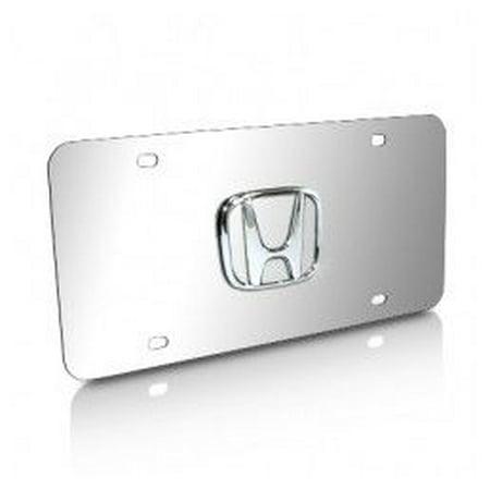 Honda 3D Logo Chrome Stainless Steel License Plate