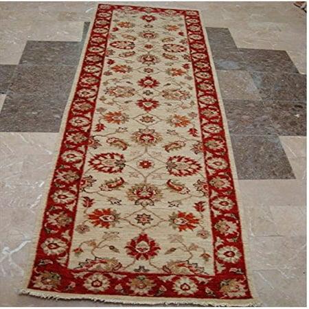 Wow Chobi Zeigler Mahal Vege Dyed Hand Knotted Carpet Rug Runner (8.0 x (Chobi Carpet)