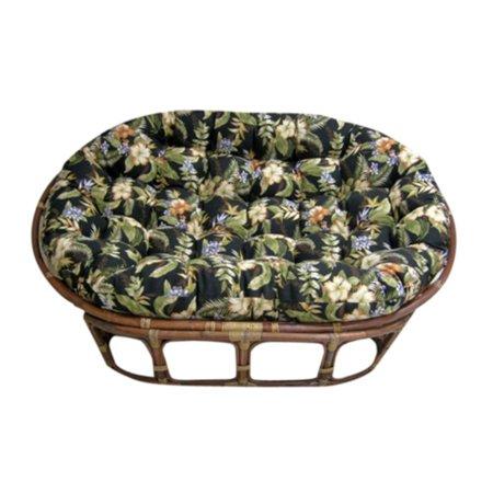 Blazing Needles 60 inch Outdoor Double Papasan Cushion ()