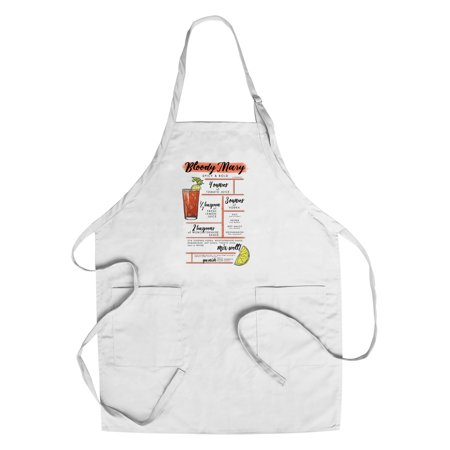 Bloody Mary - Cocktail Recipe - Lantern Press Artwork (Cotton/Polyester Chef's Apron)