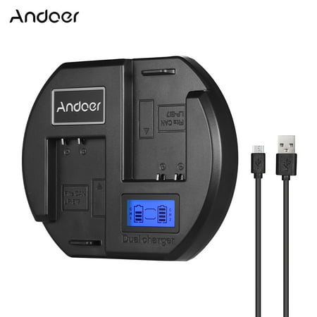 Andoer Fast Dual-channel Camera Battery Digital LCD Display USB Input for Canon LP-E17 Battery for Canon 760D 750D - image 1 de 7