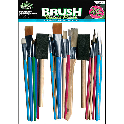 Royal Brush Value Pack, 25-Pack, Assorted
