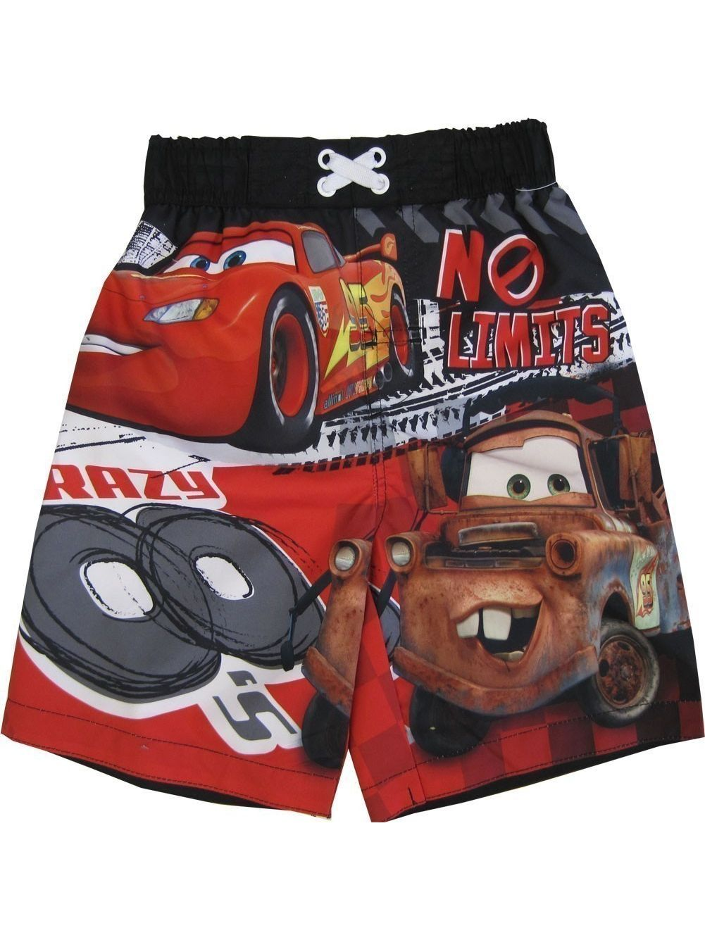Thomas And Friends Baby Boys Red Blue Cartoon Print UPF 50+ Swim Shorts