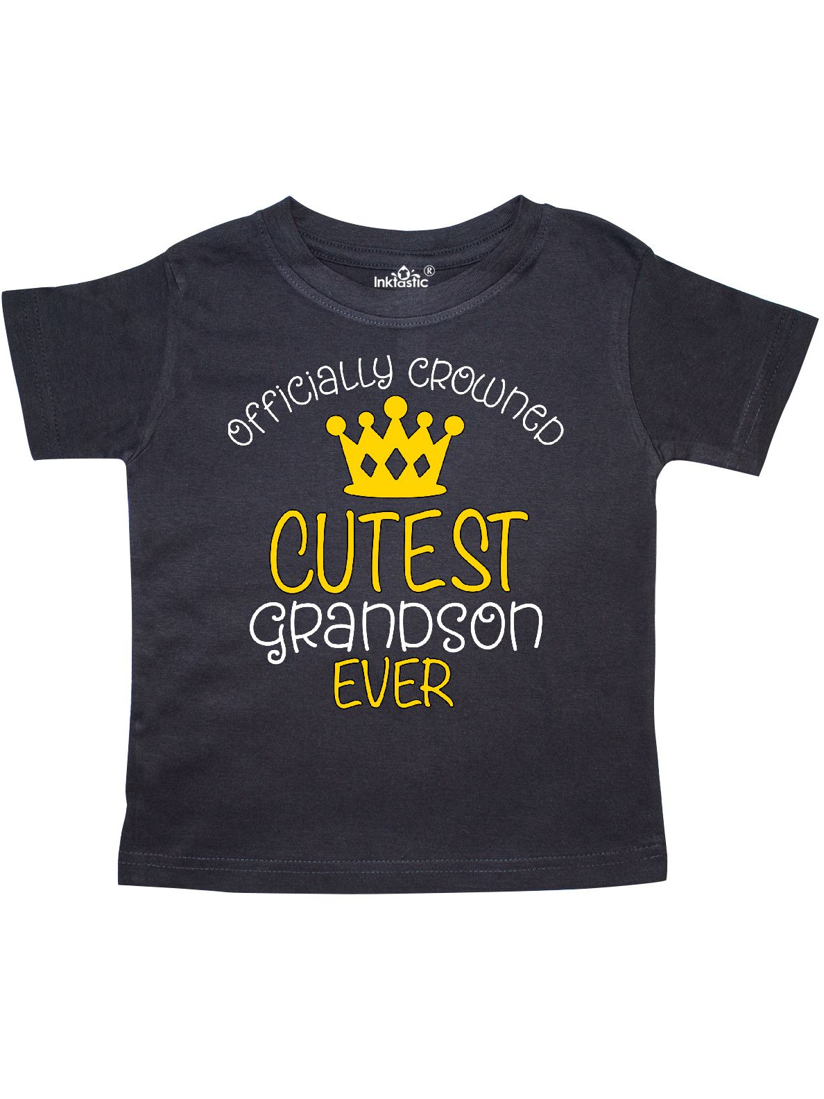 Officially Crowned Cutest Grandson Ever gold crown Toddler T-Shirt