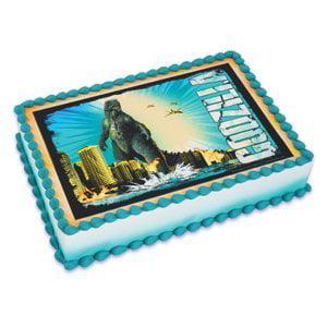 Godzilla Edible Icing Image Cake Topper 1/4 - Catch A Husband Cake