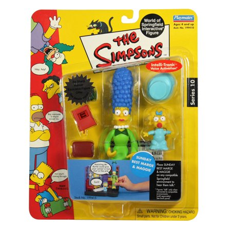 The Simpsons Series 10 World of Springfield Sunday Best Marge &