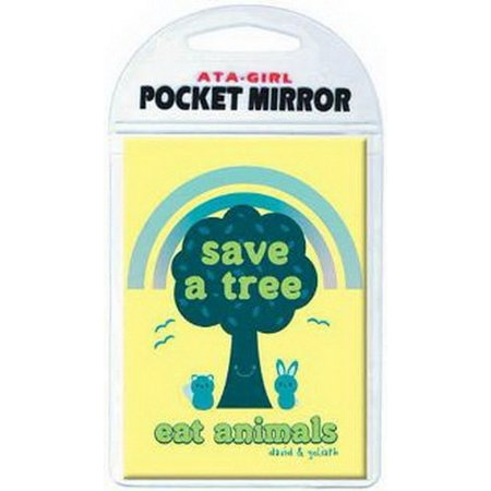 Mirrored Animal - David and Goliath Save Tree Eat Animals Pocket Mirror 50660