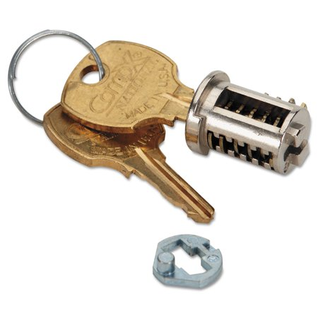 Removable Lock Core Replacement Kit, Brushed Chrome Core Removable Lock Kit
