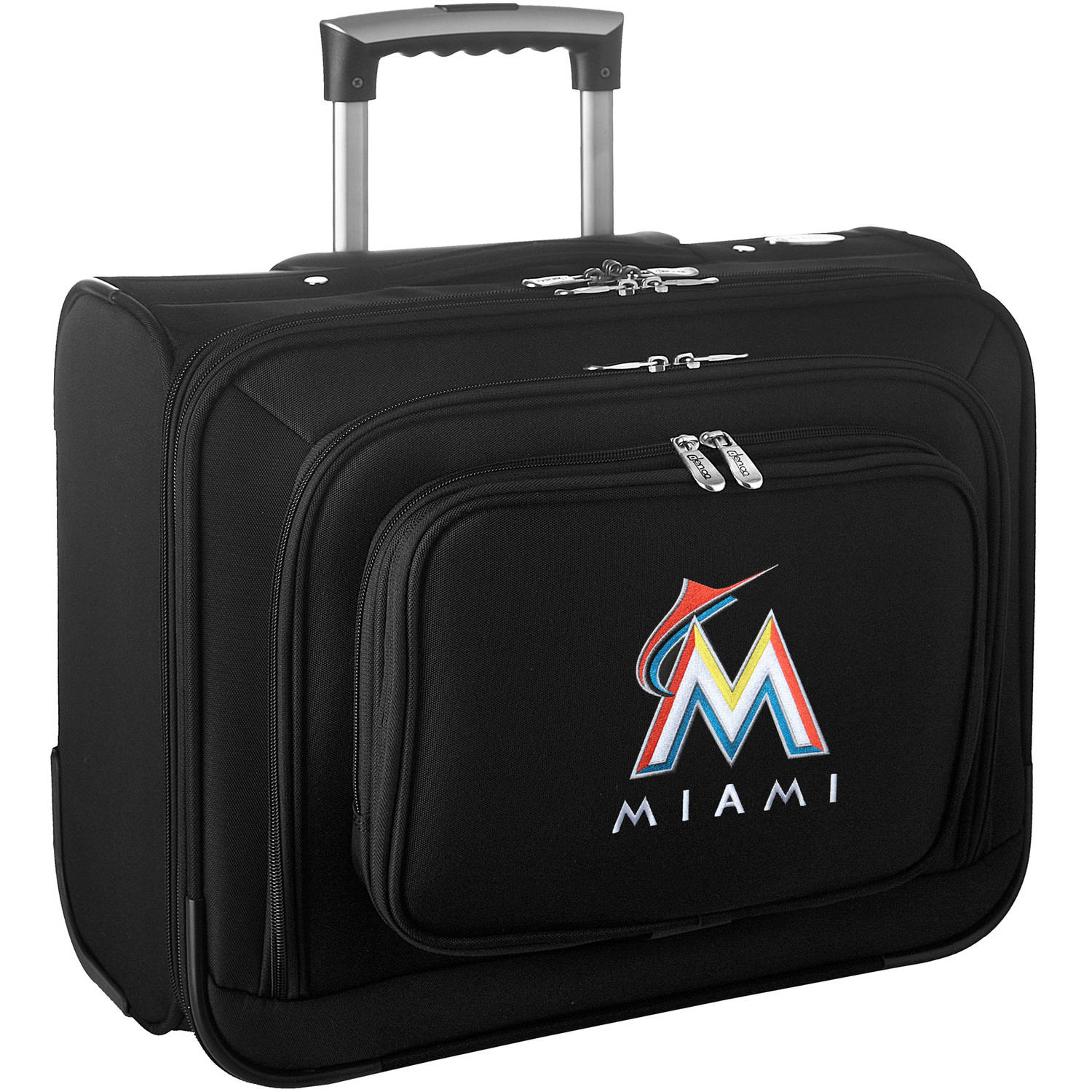 Denco MLB Wheeled Laptop Overnighter, Miami Marlins