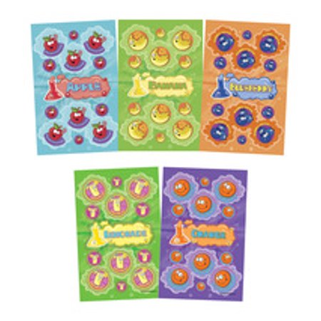 JFL Scratch N Sniff Stickers, 10 Fruity Fun Scents, Pack of 280 - Scratch And Sniff Stickers