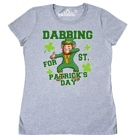 Inktastic Dabbing For St  Patricks Day Leprechaun Womens T Shirt St  Patrick