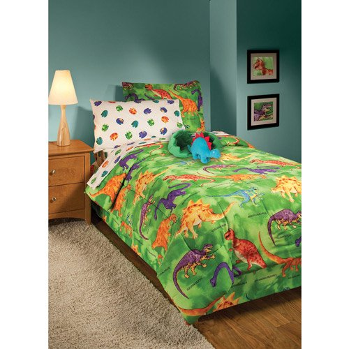 Crayola Dinosaurs Bedding Comforter Set Walmart Com