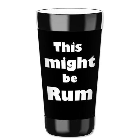 Mugzie 16-Ounce Tumbler Drink Cup with Removable Insulated Wetsuit Cover - Might be Rum