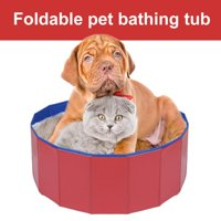 Anauto Dogs Bathing Tub, Foldable Pet Bathing Tub,Foldable Pet Dogs Cats Bathing Tub Portable Swimming Pool Home Indoor Outdoor