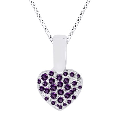 075 ct round cut simulated amethyst heart promise pendant necklace 075 ct round cut simulated amethyst heart promise pendant necklace in 14k white gold aloadofball Choice Image