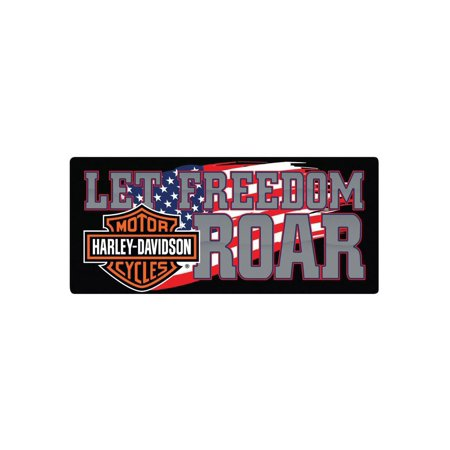 - Harley-Davidson Freedom Roar B&S Embossed Tin Sign, 18 x 8 inches 2010791, Harley Davidson