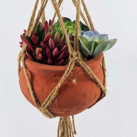 40.94 Gardening Supplies  Vintage Knotted Macrame Braided Plant Hanger Jute Rope Pot Holder Hanging Planter Basket Flowerpot