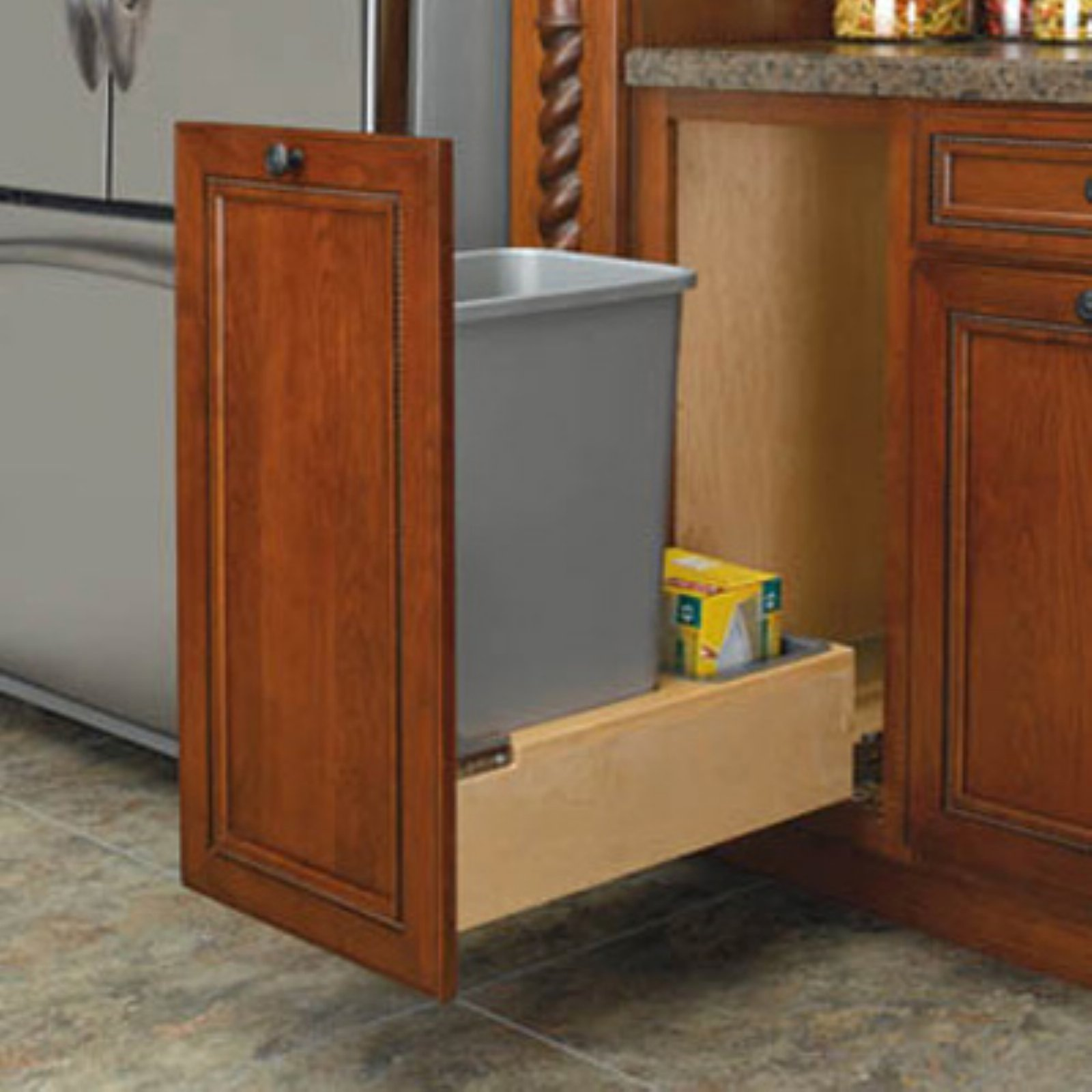 Rev-A-Shelf Single Rev-A-Motion Pull Out 50 qt. Trash Can