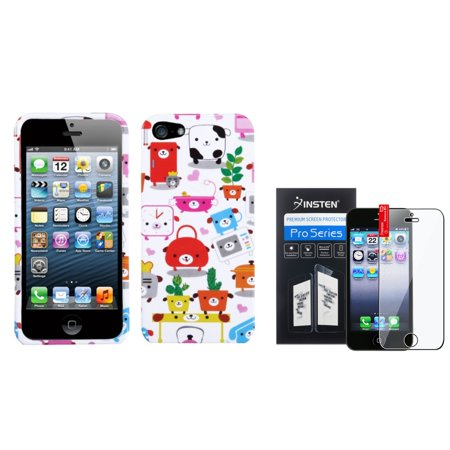 Insten Dog Lifestyle Hard Snap On Cover Case For iPhone 5S 5 5th+LCD Film